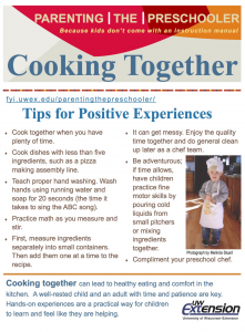 Cooking with Preschoolers Page 1
